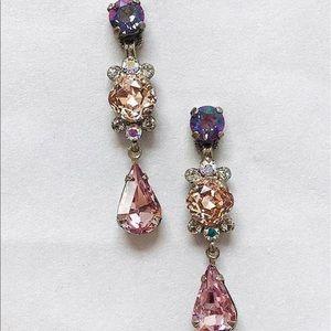 Sorrelli Heavenly Blush Triple Crystal Earring,NWT